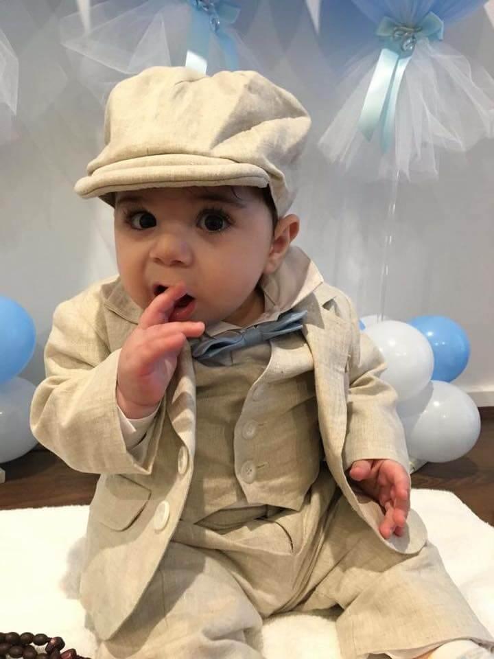 talian Linen - Taupe Vest, Long Pants, Jacket & Bowlers Hat....