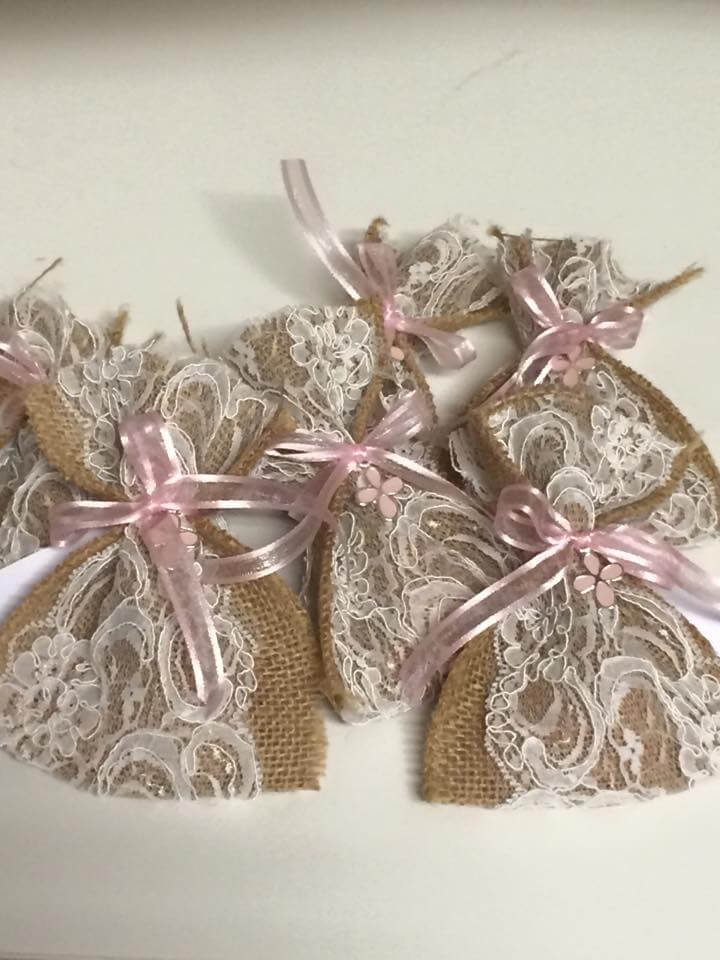Hessian Bag With Lace