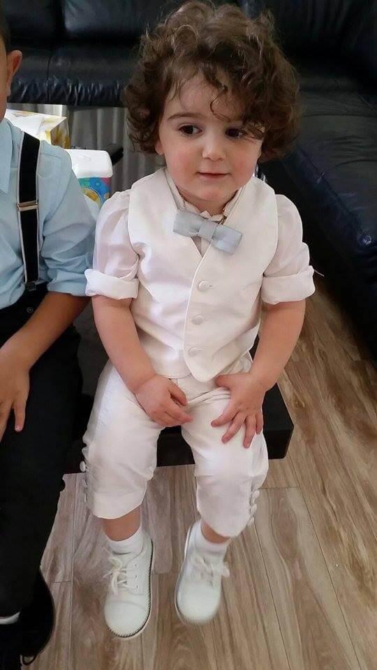 White Linen Vest & Pants With Linen Roll up Shirt