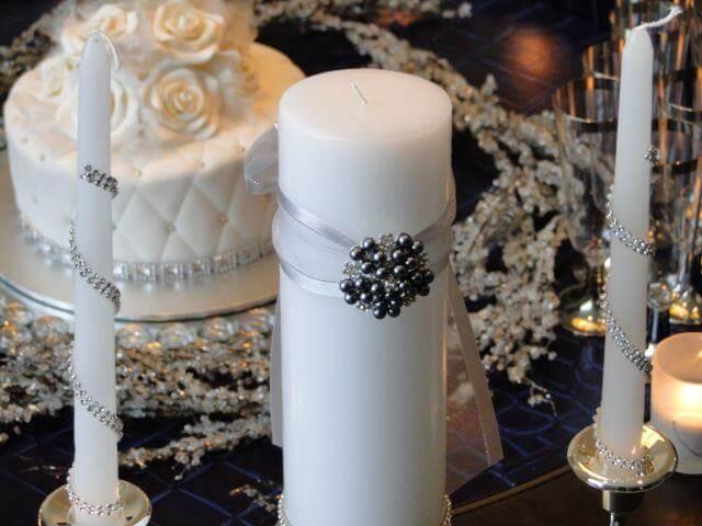 Personalised Wedding Candles