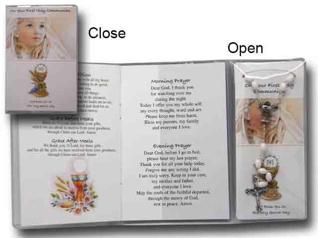 Rosary Girl Prayer Card Book