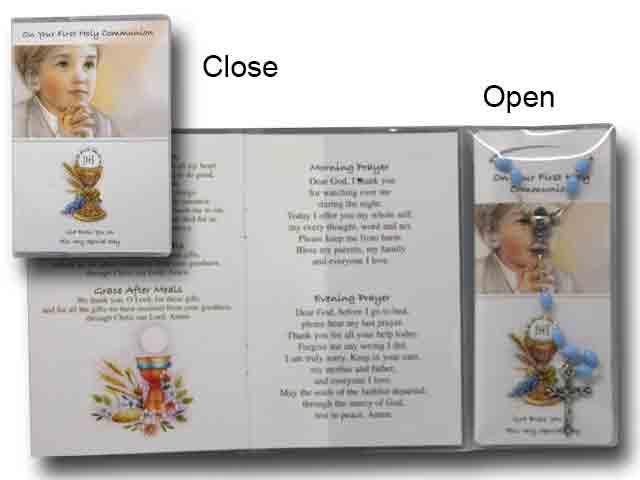 Rosary Boy Prayer Card Book