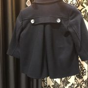 Cashmere Wool Navy Coat.
