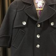 Cashmere Wool Navy Coat..