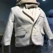 Italian Linen – Silk Linen Ivory Jacket Beige Silk Linen Contrast