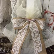 Orthodox Candle – Hessian & Lace Bow