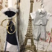 Orthodox Candle – Linen Upright Bow – Initial – Matching Outfit