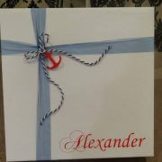 Personalised Cardboard Square Box (d)