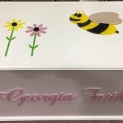 Personalised Rectangular Timber Toy Box – Bee