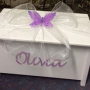 Personalised Rectangular Timber Toy Box (a)