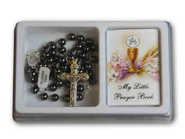Rosary Black Bead & Prayer Book