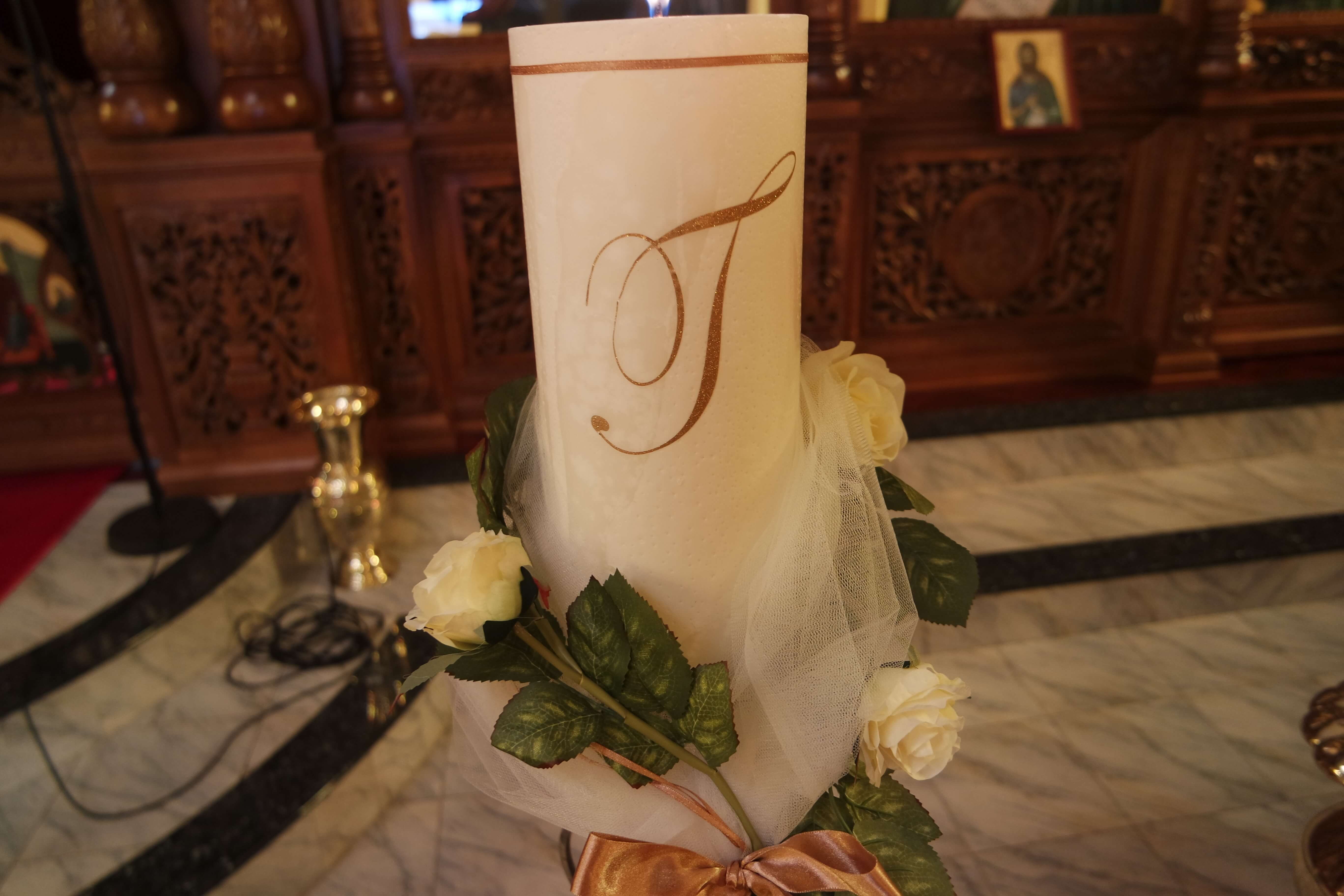 Large Marble Candles