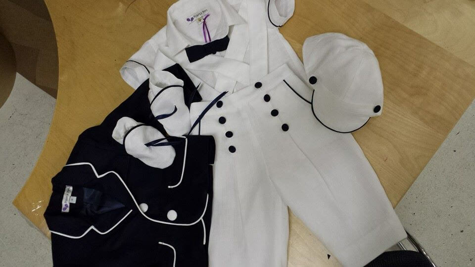 Tommy Italian Linen Long Pants with Jacket, Shirt, Cap, Bow Tie & Booties