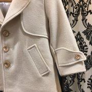 Wool Coat in Cream..