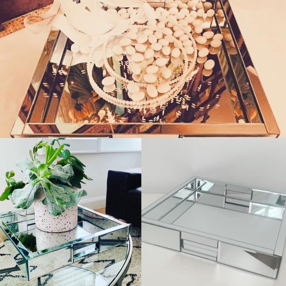 Silver Mirror Tray