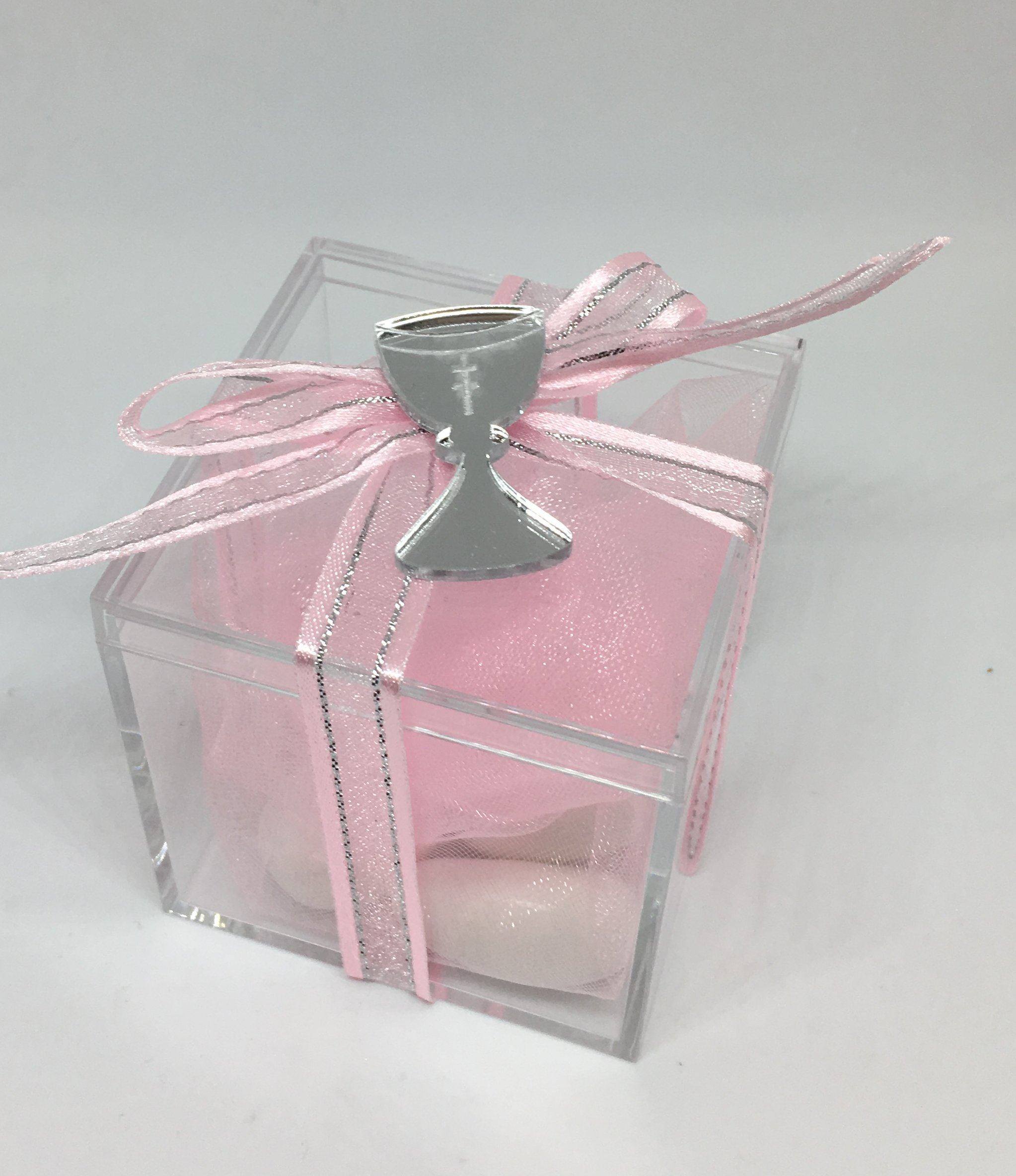 Acrylic Box with Acrylic Mirror Chalice Charm