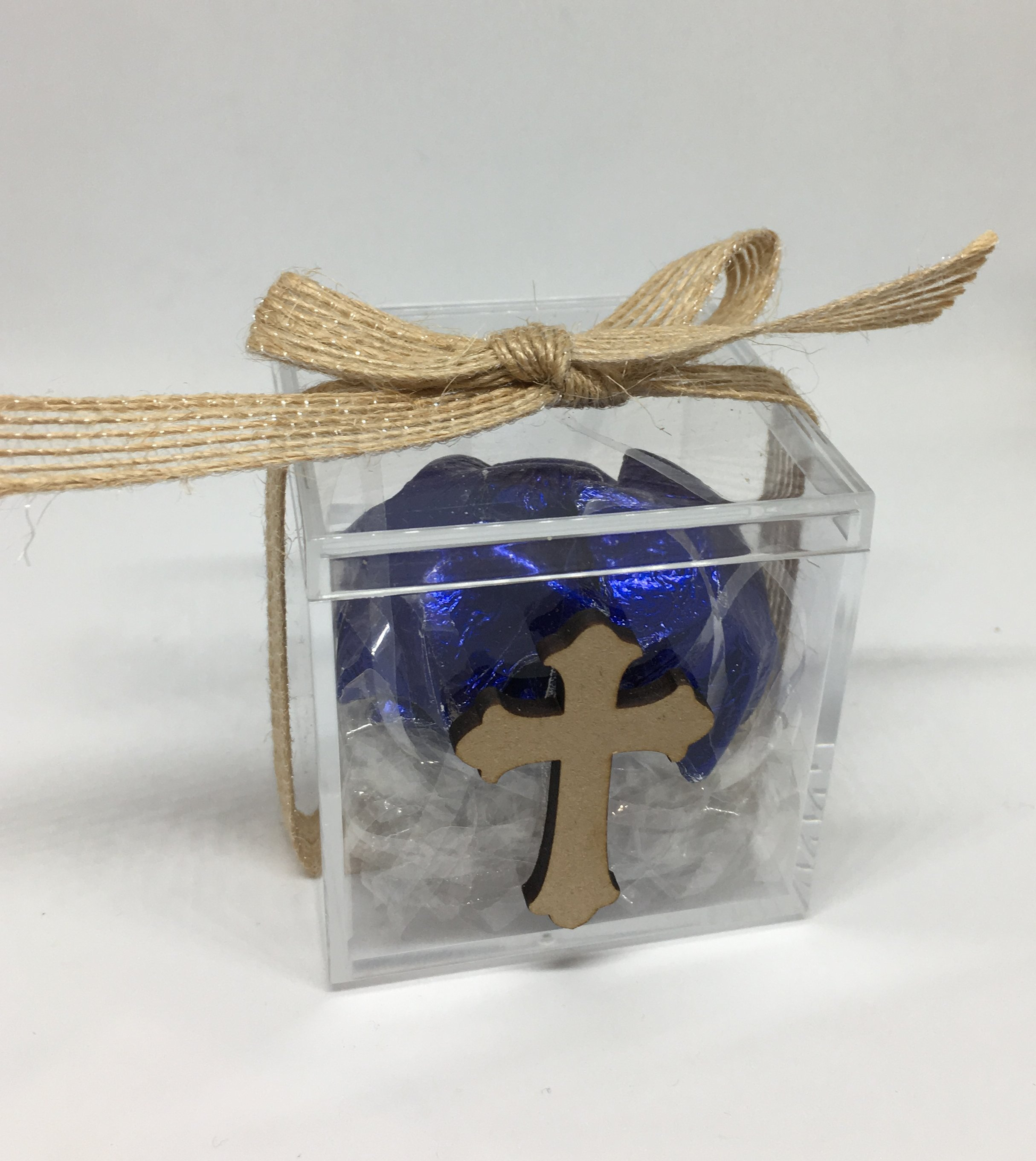 Acrylic Box with Timber Cross