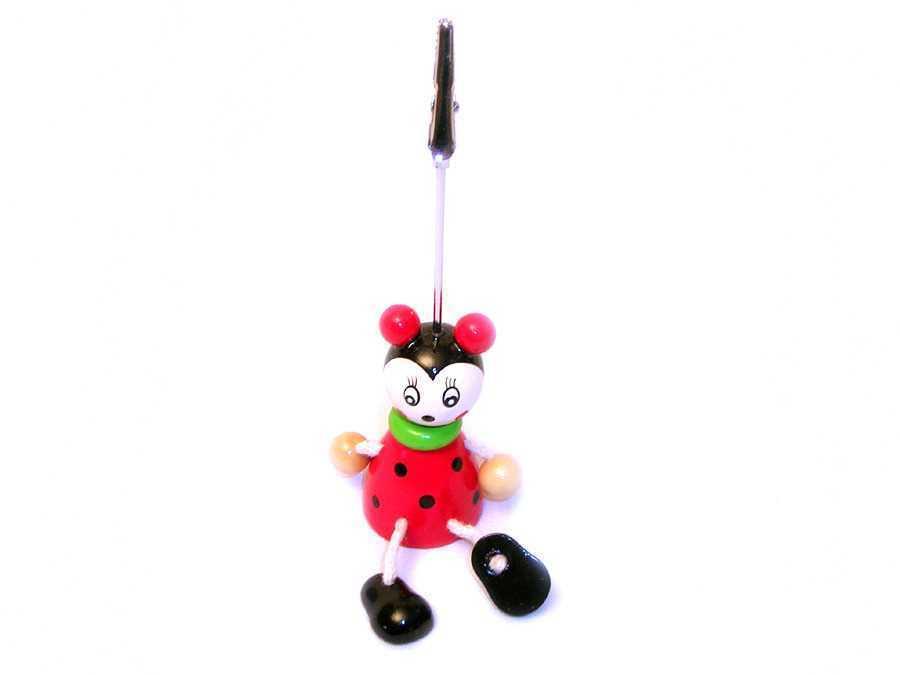 Card Holder Timber Ladybug
