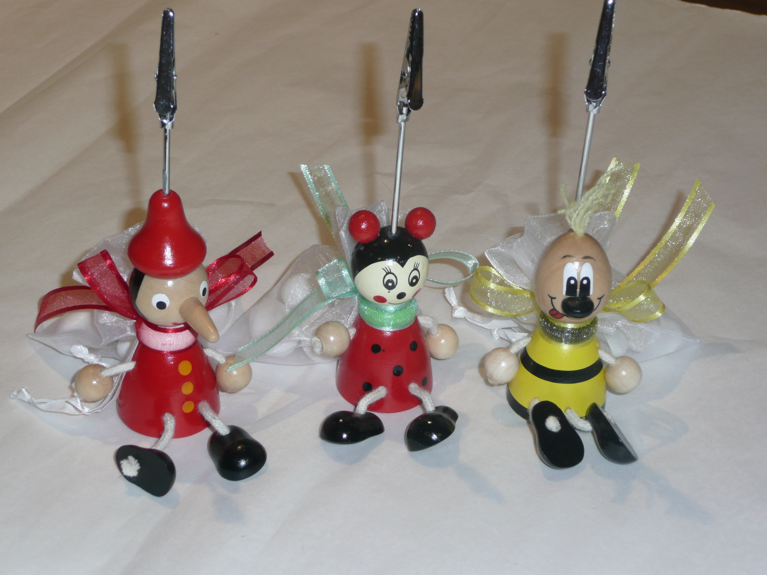 Card Holder Timber Pinocchio, Ladybug, Frog or Bee