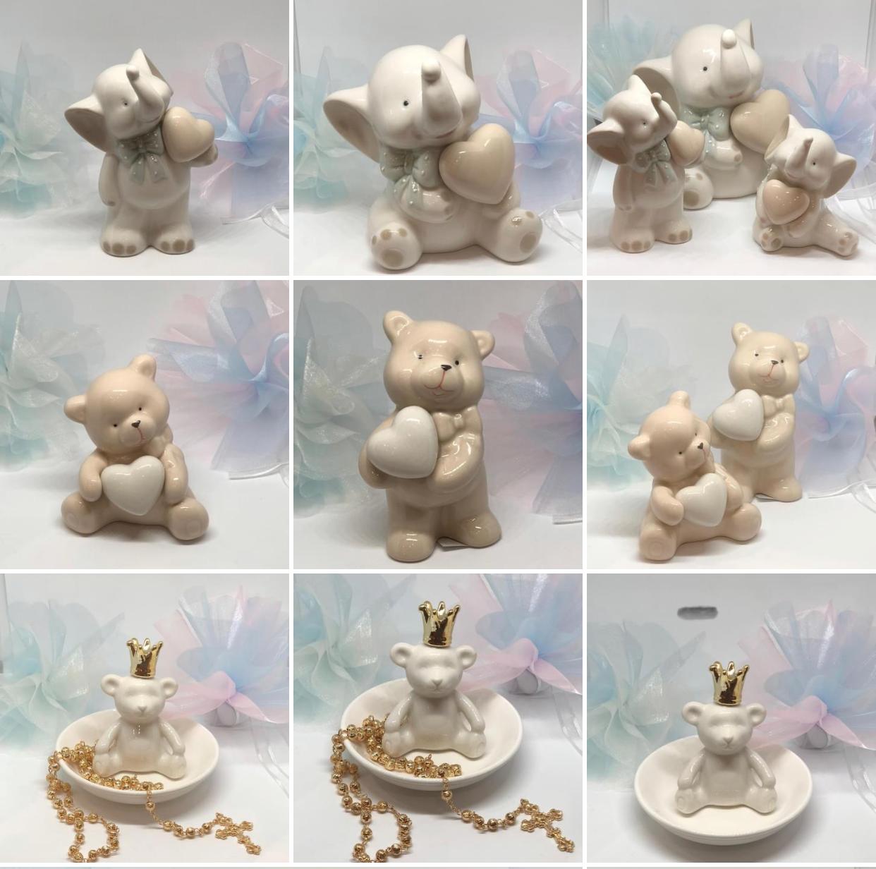 Ceramic Bear & Eliphant