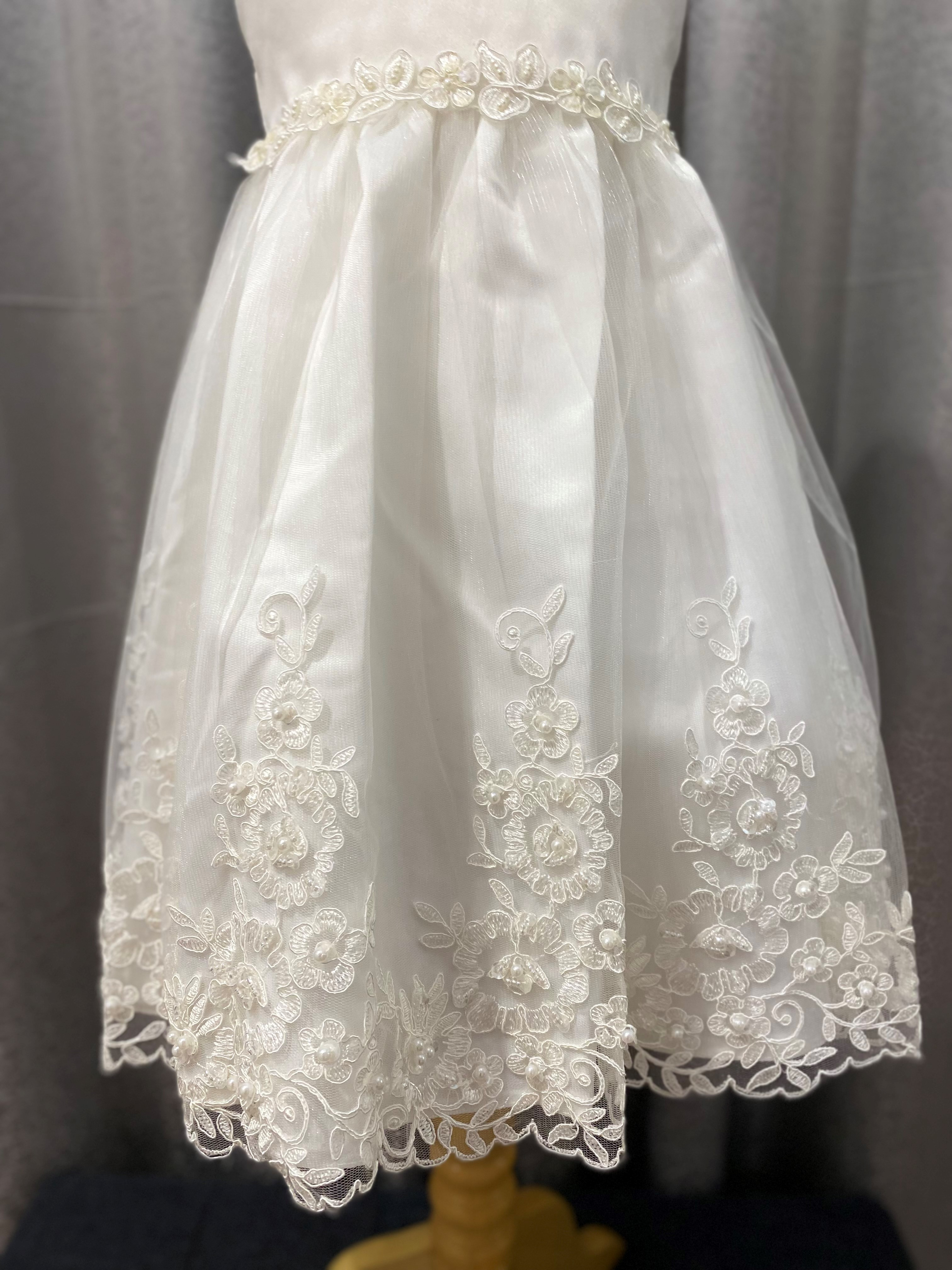 Fleuriona Ivory Lace hem Dress