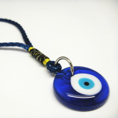Hanging Charm 4cm Round Blue Eye