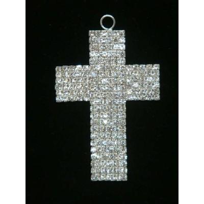 Hanging Charm 9.5cm Diamante Cross