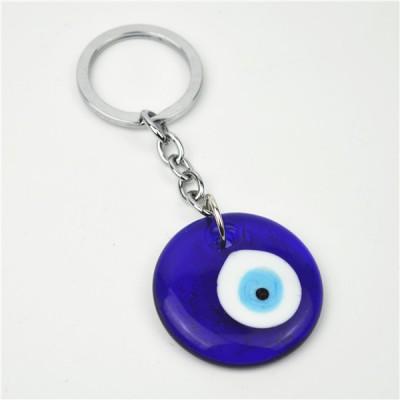 Keyring 4cm Round Blue Eye