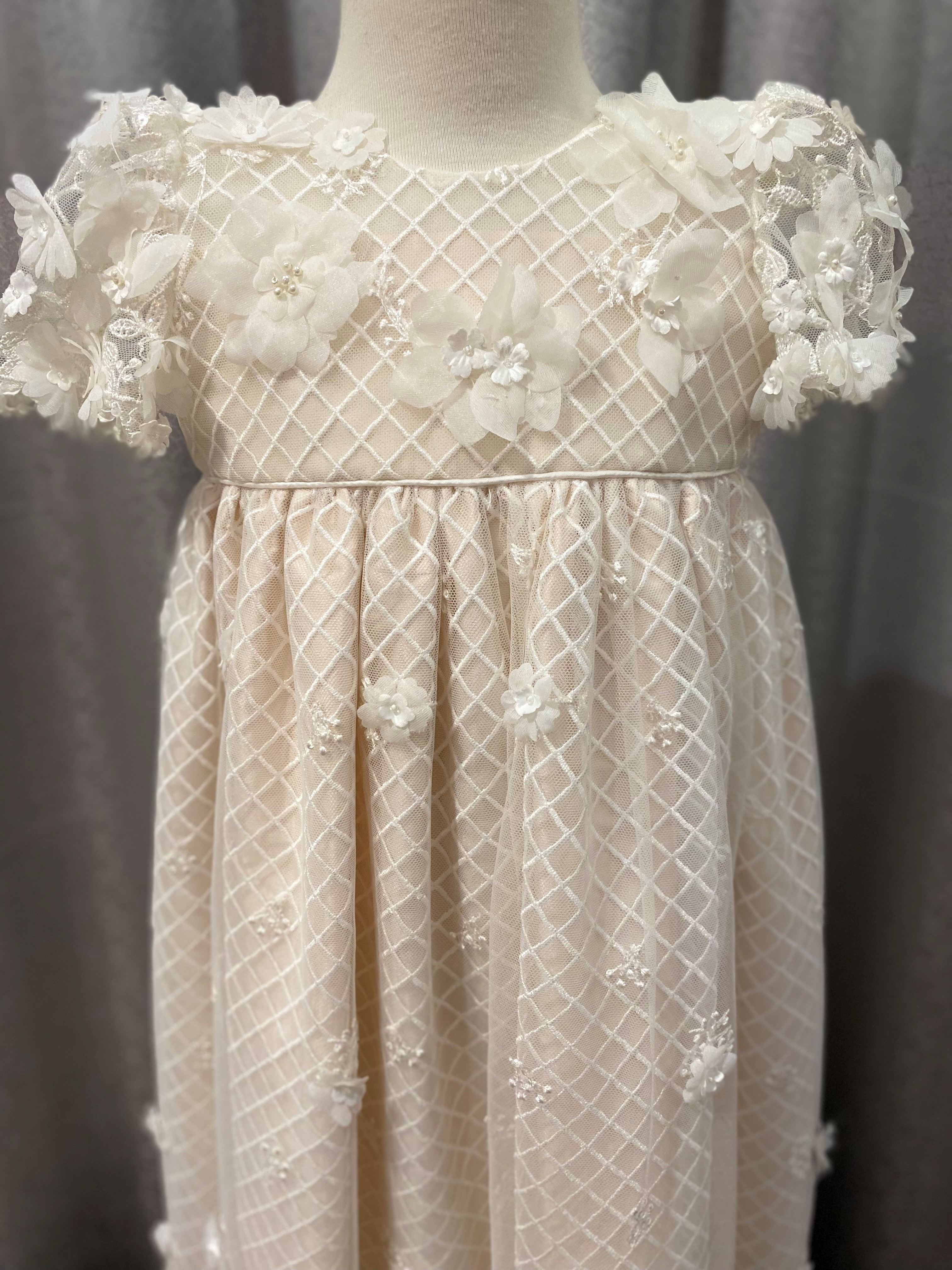 Lux Trellis Gown with Pink Raw a