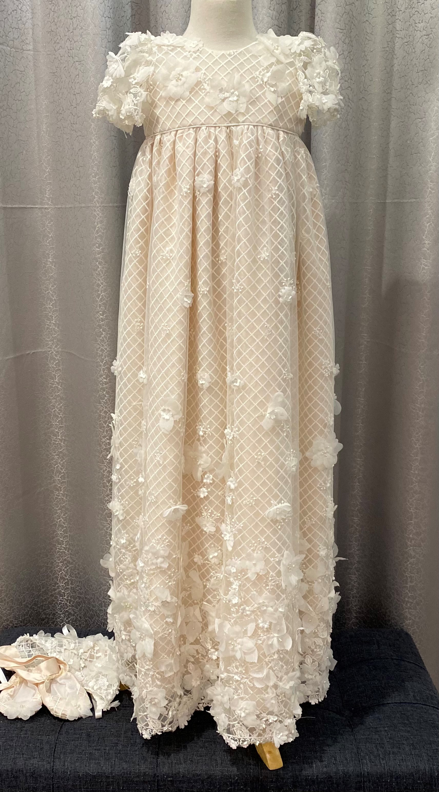 Lux Trellis Gown with Pink Raw