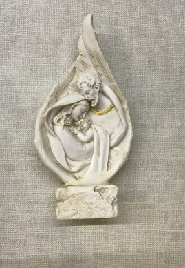 Resin Holy Family in Wings
