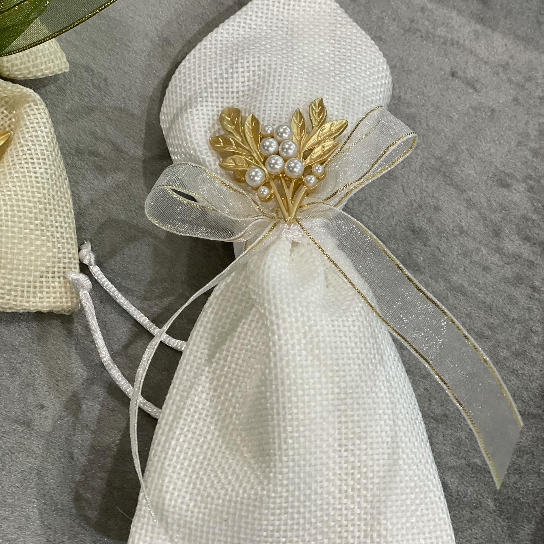 Pearl Leaf Broach