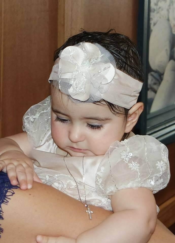 Raindrops Lace Dress & Headband