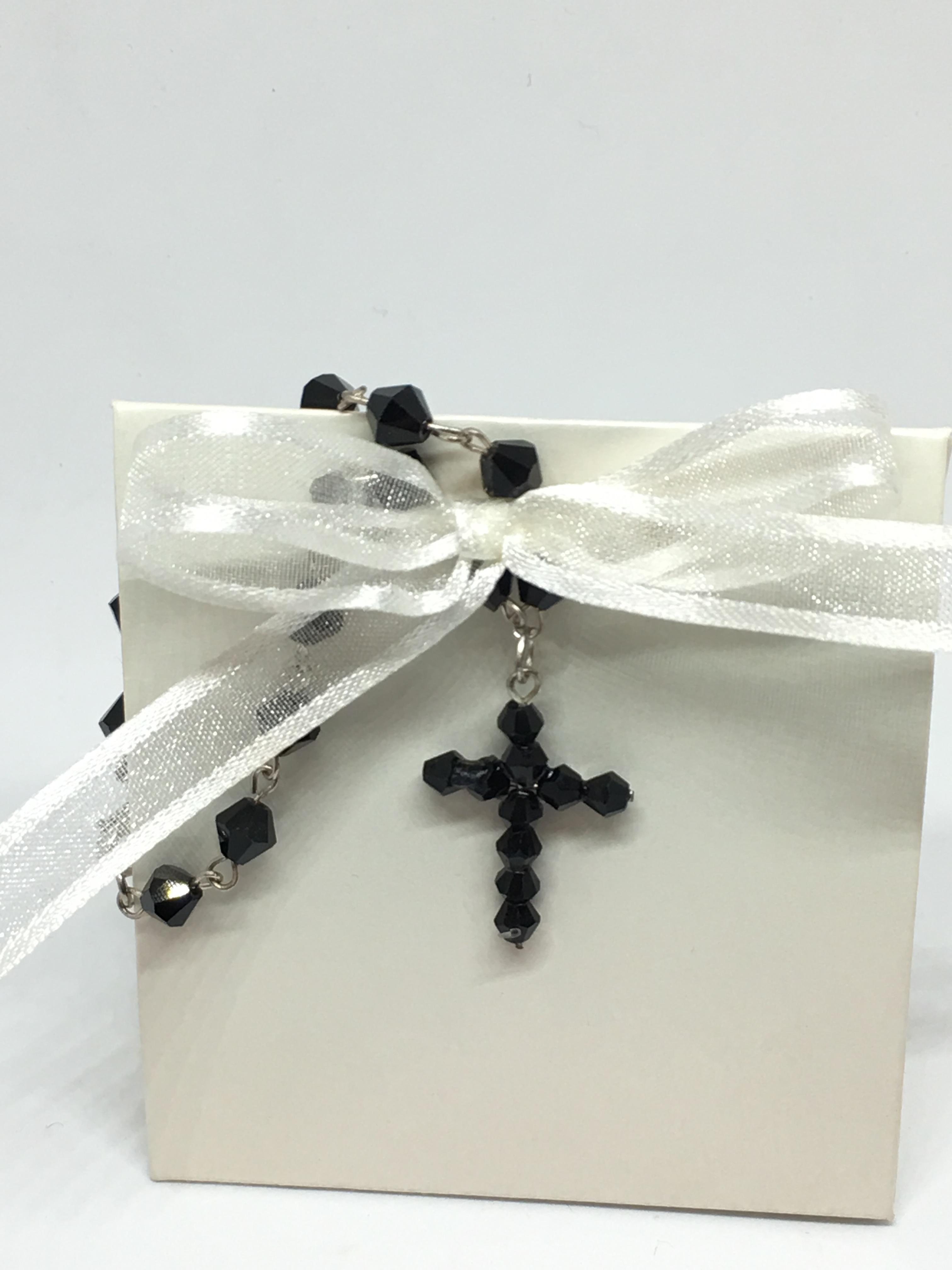 Rosary Bracelet Black Beads