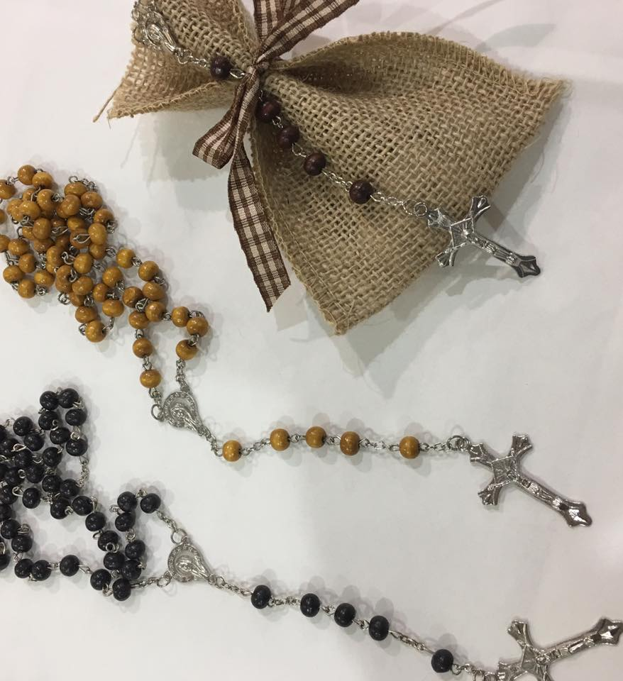 Rosary With Hessian Bag