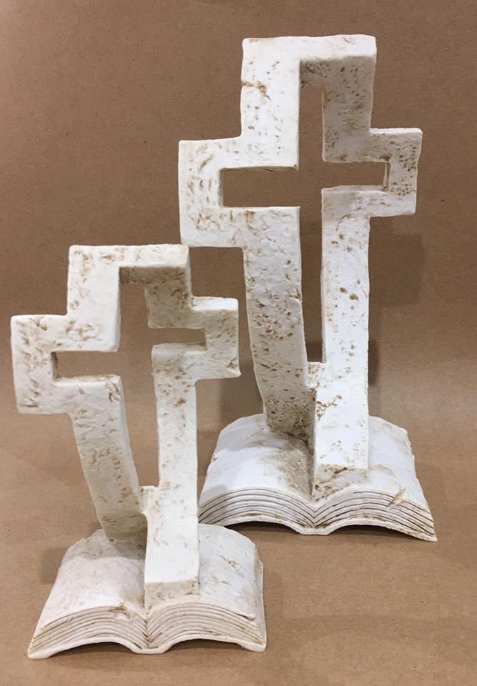 Risen Large & Small Cross