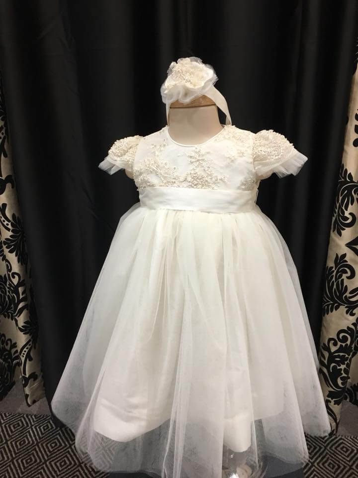 Taylor Lace Cap Sleeve Tulle Dress