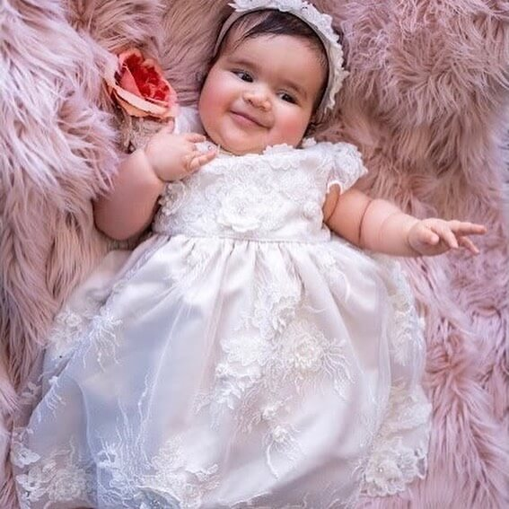 Vintage Antoinette 3D Flower Lace Dress