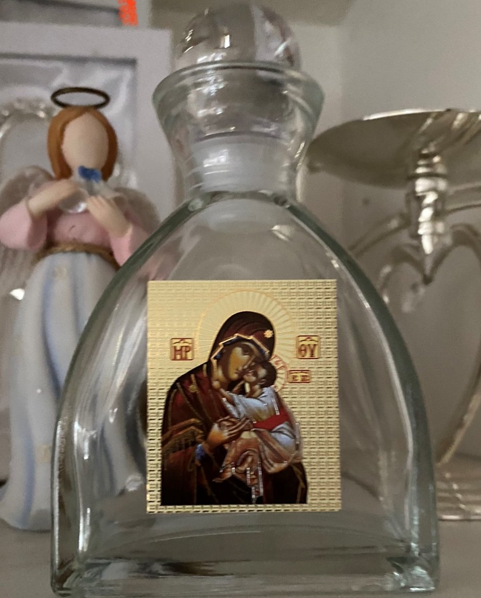 Large Oil or Holy Water Bottle
