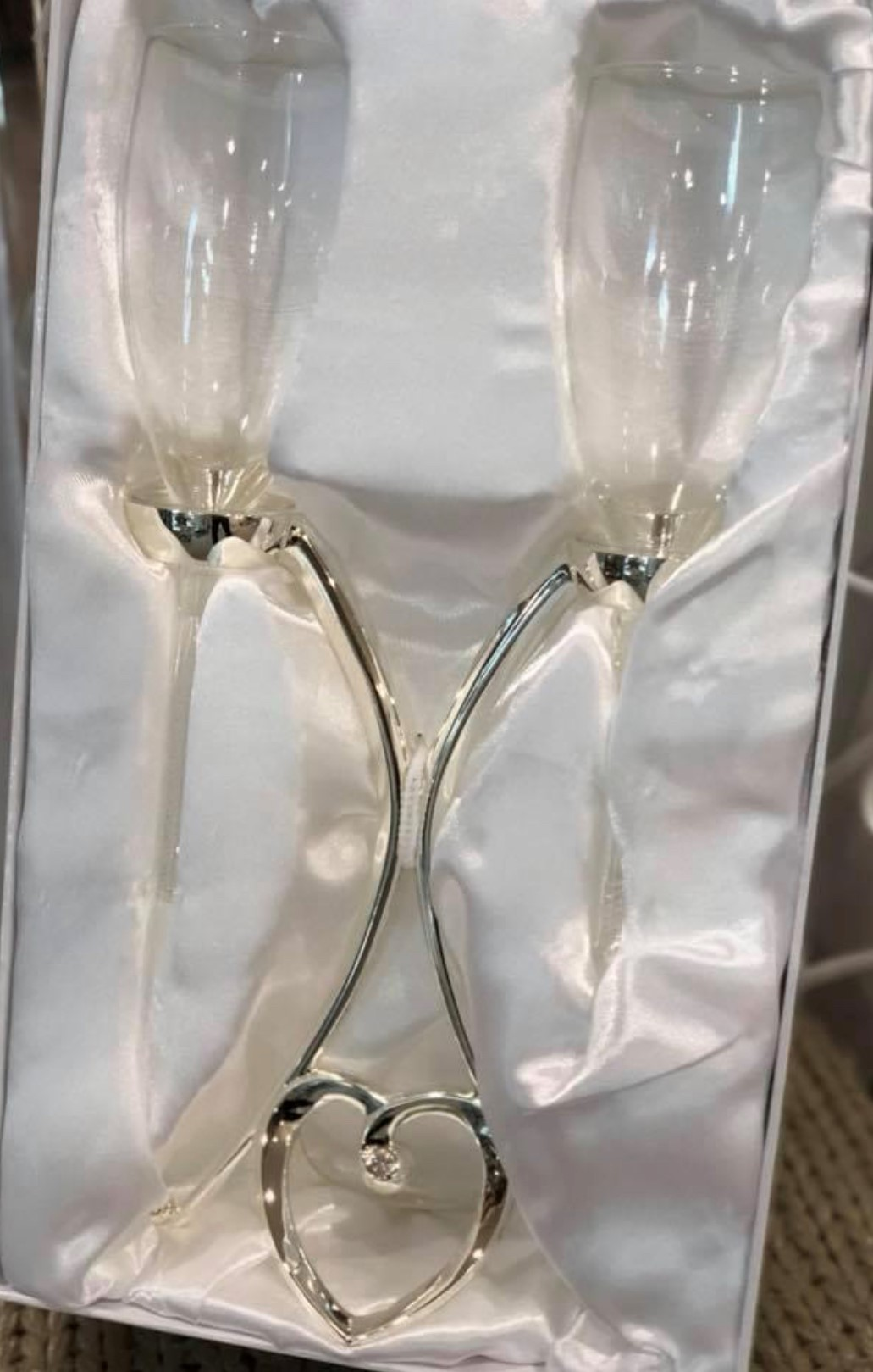 Toasting Glasses on Stand