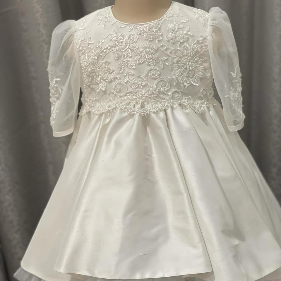Stardust Lace High Low Raw Silk Dress PP