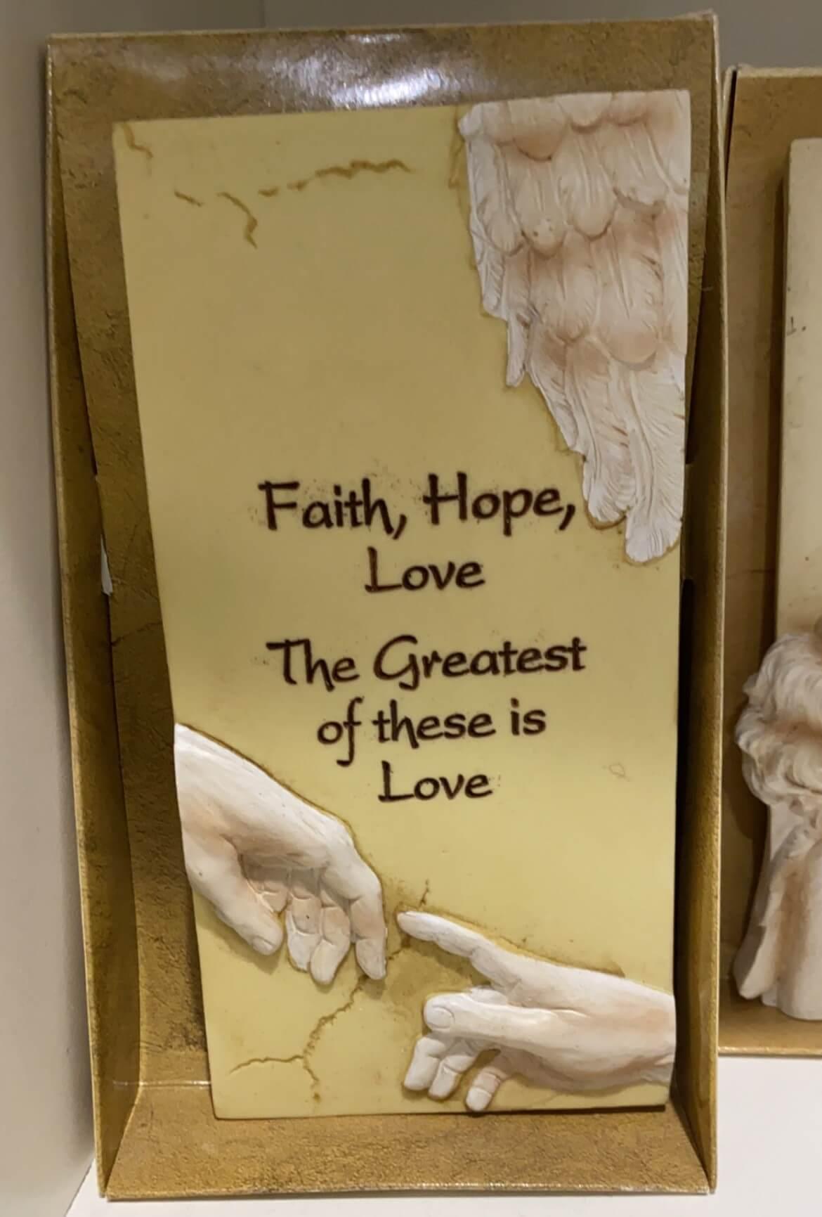 Resin Faith Hope Love Prayer