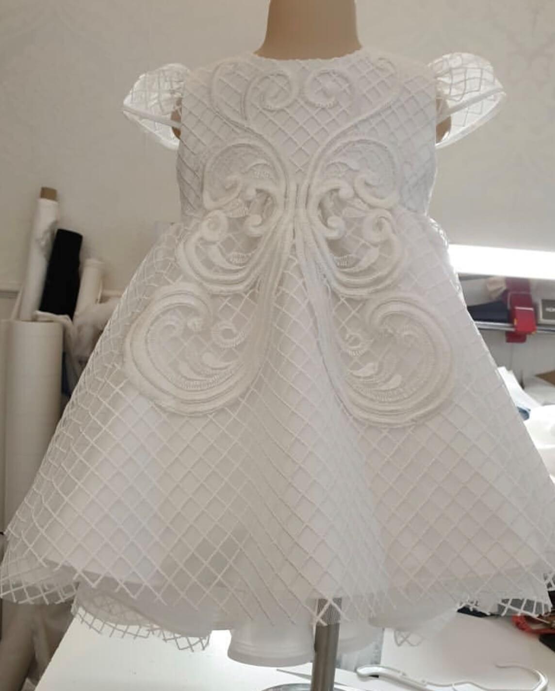 High Low Trellis Butterfly Dress PP